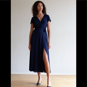 Babaton Slit Wrap Dress